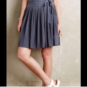 liefsdottir Anthropologie pleated gray/blue skirt